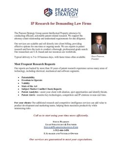 PSG - Patent Research - IP Attorney